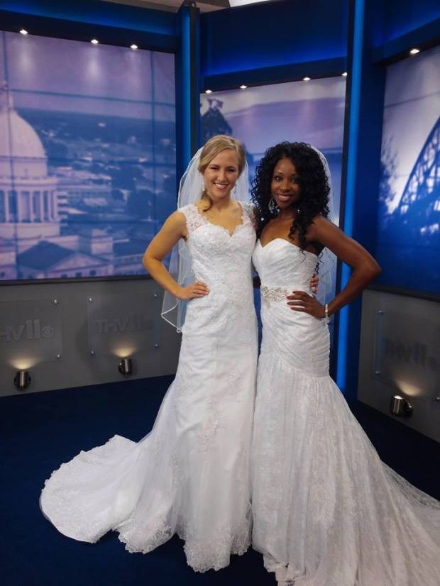 Miss Teen Arkansas USA 2012 and Ms. Arkansas United States 2014 represent Bridal Savoir Faire on the THV 11 morning show.